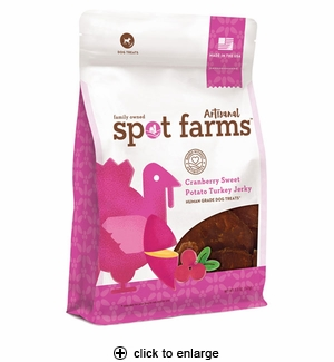 Spot Farms Artisanal Cranberry Sweet Potato Turkey Jerky Dog Treats 5oz