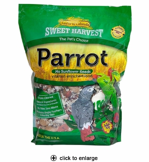 Sweet Harvest Parrot Food No Sunflower Seeds 4 lbs