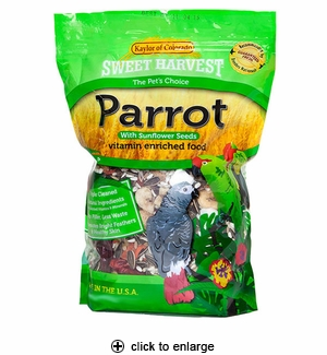 Sweet Harvest Parrot Food with Sunflower Seeds 4 lbs