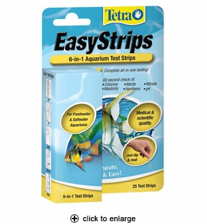 Tetra EasyStrips 6-in-1 Aquarium Test Strips 25ct