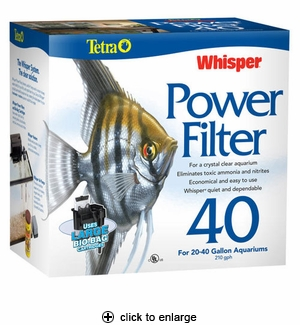 Tetra Whisper Power Filter 40 for Aquariums 20-40 Gallons