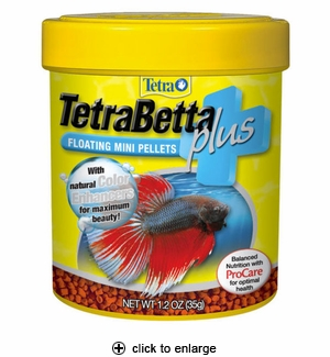 TetraBetta Plus Floating Mini Pellets 1.2oz