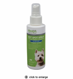 Tomlyn Allercaine Hot Spot Spray with Bittran II for Dogs 4oz