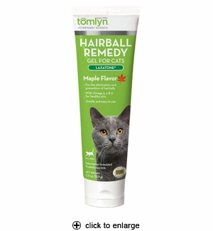 Tomlyn Laxatone Hairball Remedy Gel Maple Flavor 2.5oz