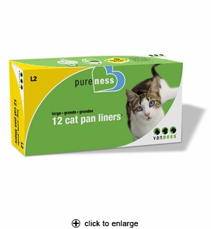 Van Ness Pureness Cat Pan Liners Large 12ct #L2