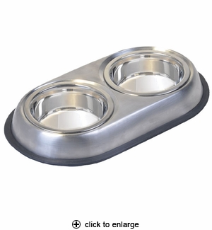 Van Ness Pureness Stainless Steel Double Diner Small #SS6