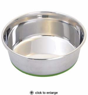 Van Ness Pureness Stainless Steel Non-Skid Pet Dish 96oz #SS4