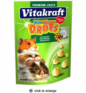 Vitakraft Drops with Milk & Honey for Hamsters 5.3oz