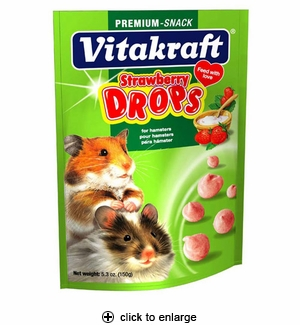 Vitakraft Drops with Strawberry for Hamsters 5.3oz