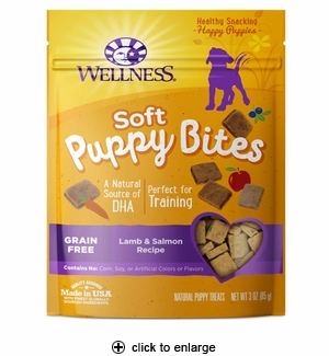 Wellness Puppy Bites Lamb & Salmon Dog Treats 3oz