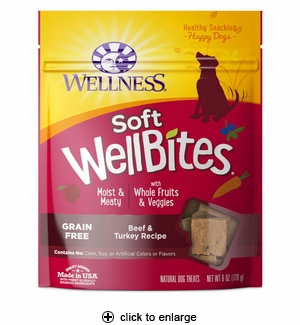 Wellness WellBites Beef & Turkey Dog Treats 6oz