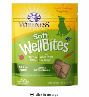 Wellness WellBites Lamb & Salmon Dog Treats 6oz