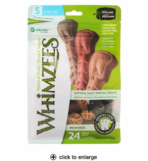 Whimzees Brushzees Dental Dog Chews Small 24ct