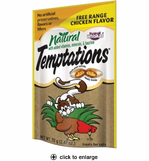 Whiskas All Natural Temptations Free Range Chicken 2.47 oz