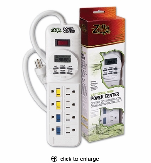 Zilla 24/7 Digital Timer Power Center