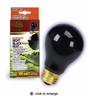 Zilla Night Black Heat Bulb 100W