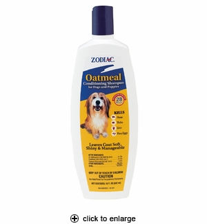 Zodiac Oatmeal Conditioning Shampoo for Dogs & Puppies 18 oz