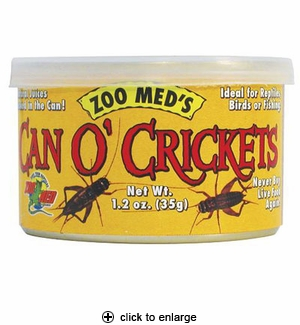 Zoo Med Can O' Crickets 1.2 oz