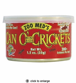 Zoo Med Can O' Crickets Mini 1.2 oz