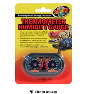 Zoo Med Dual Analog Thermometer & Humidity Gauge