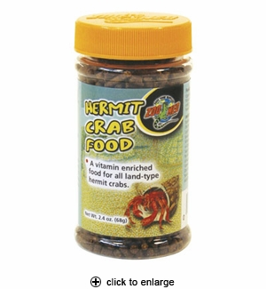 Zoo Med Hermit Crab Food Pellets 2.4 oz