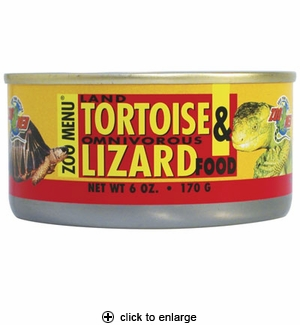 Zoo Med Land Tortoise & Omnivorous Lizard Food Can 6 oz