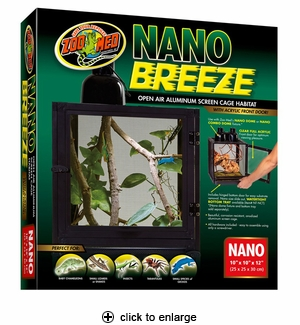 Zoo Med Nano Breeze Screen Cage 10x10x12