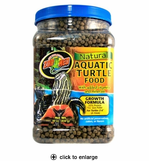 Zoo Med Natural Aquatic Turtle Food Growth Formula 30oz