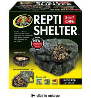 Zoo Med Repti Shelter 3-in-1 Cave Large