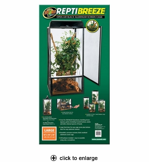 Zoo Med ReptiBreeze Aluminum Screen Cage Large 18x18x36