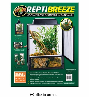 Zoo Med ReptiBreeze Aluminum Screen Cage Small 16x16x20