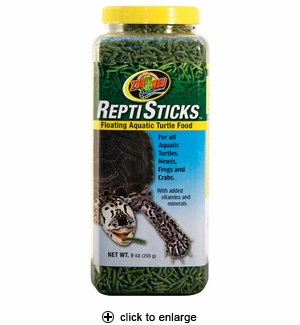 Zoo Med ReptiSticks Floating Aquatic Turtle Food 9oz