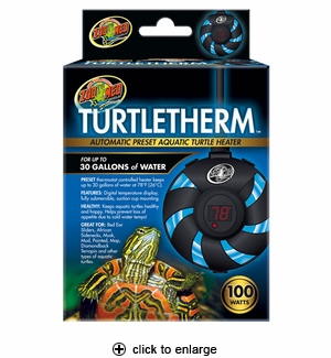 Zoo Med TurtleTherm Automatic Preset Aquatic Turtle Heater 30 Gallons