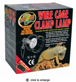 Zoo Med Wire Cage Clamp Lamp #LF-10