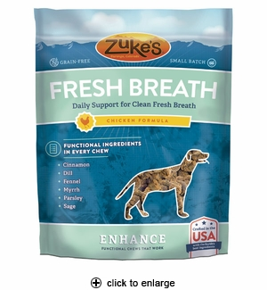 Zuke's Enhance Fresh Breath Chicken Dog Treats 5oz