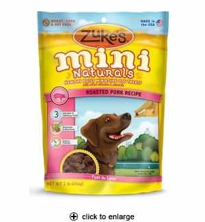 Zuke's Mini Naturals Pork Dog Treats 1 lb