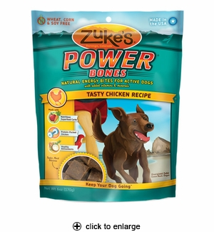 Zuke's Power Bones Chicken Dog Treats 6oz