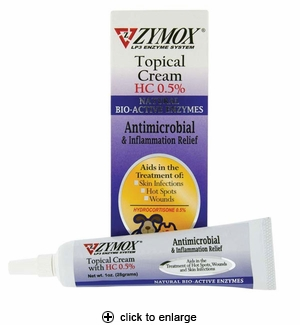 Zymox Topical Cream for Dogs & Cats 1oz