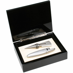 2 Pc. Wine Gift Set in Lacquer Box