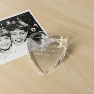 "3.5"" Heart Paperweight"