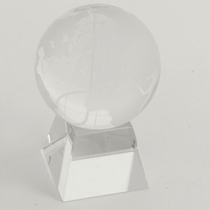 "3"" Glass Globe on Pyramid Base"
