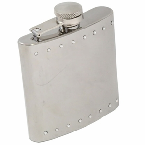 6 oz. Stainless Steel Crystal Flask