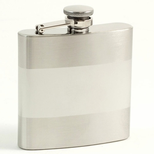 6 oz. Stainless Steel Satin Flask