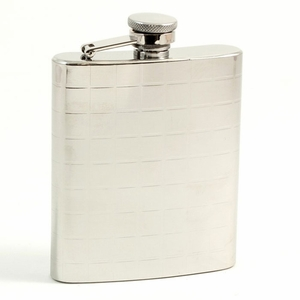7 oz. Stainless Steel Checker Design Flask