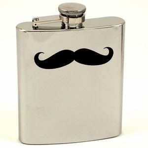 7 oz. Stainless Steel Moustache Flask