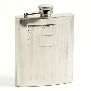 7 oz. Stainless Steel Weave Design Flask