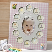 Baby Girls First Year Collage Frames