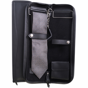 Black Leather Tie Case