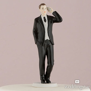Cell Phone Fanatic Funny Groom Cake Topper