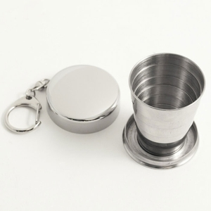 Collapsible Shot Glass Keychain